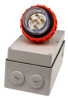 Appliance Inlet 5 Round Pins 10A 440V IP66