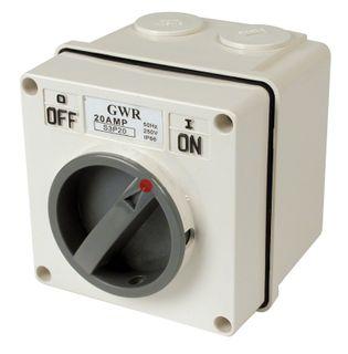 Switch 2 Pole 20A IP66