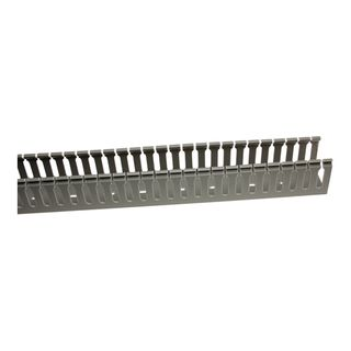 Slotted Duct with Grey Lid 25x75