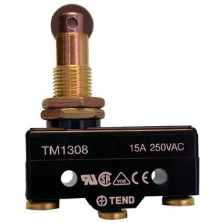Micro Switch 15A Button Plunger with Roller
