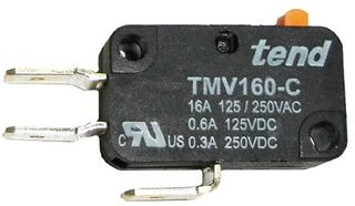 Compact Micro Switch 16A Button Actuator
