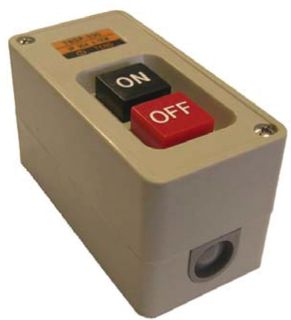 Power Switch Encl 15A 3 Pole ON/OFF S/Mnt Plastic
