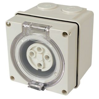Surface Socket Outlet 4 Round Pin 40A 440V