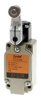 Limit Switch 10A 1P65 Non Adjustable Roller Lever