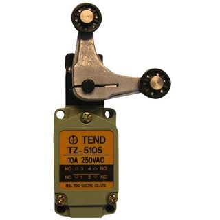 Limit Switch 10A 1P65 Double Roller Lever Arm