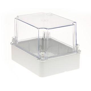 Enclosure PVC Clear Lid Grey Body 190x140x140