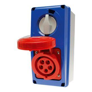 Switched Socket Outlet IP67 32A 415V 3P+E