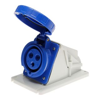 90Deg Surface Socket IP67 16A 240V 2P+E