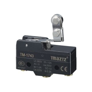 Micro Switch 15A 32mm Double Roller Lever