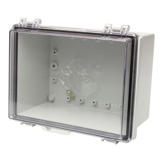 Enclosure Poly Grey Body Clear Hgd Lid 300x400X150