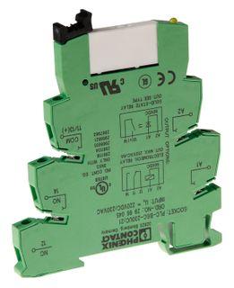 Relayand Base Plc Ultra Slim 1P 24VAC/DC SPDT 6A