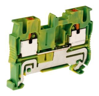PT Terminal Single Level Earth 4mm 1 In /1 out