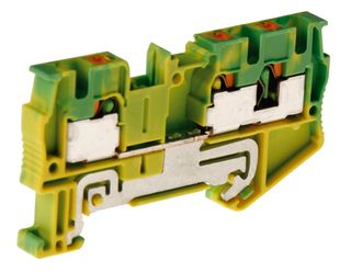 PT Terminal Single Level Earth 2.5mm Twin 1In/2OUT