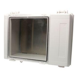 Grey hinged lid & internal door BOXCO