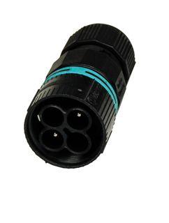 Inline Male Plug 2P23mm Diax85mm 0.5mm-4.0mm 17.5A
