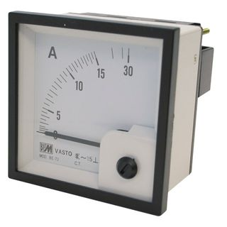 Ammeter 5A CT Operated 72x72 Digital