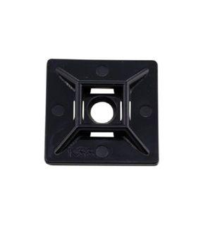 Adhesive Tie Base Black 28x28mm Up To 5.0mm Tie