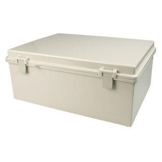 Enclosure ABS Grey Body Grey Hgd Lid 135x185x100