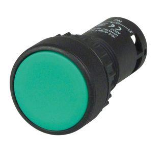 Pushbutton Monobloc Flush Green 1 N/O 1 N/C