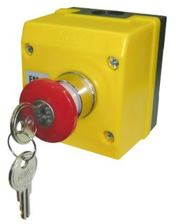 Control Station Emergency Stop Key Operated 1 N/C