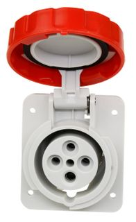 Panel Mount Sockets 16A 415V 3P+E