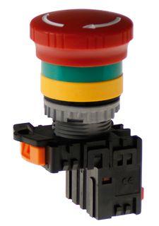 Emergency Stop 40mm head Push Pull to release 1N/C