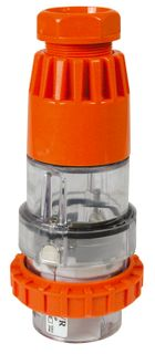 Straight Plug 3 Round Pin 32A 250V IP66
