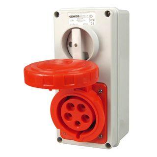 Reefer Switched Socket IP55 32A 415V 3P+E