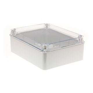 Enclosure PVC Clear Lid Grey Body 240x190x90
