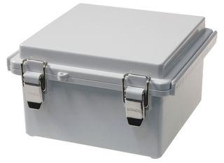 Enclosure Poly Grey  Body - Hinged lid 150x150x90