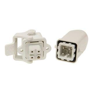 Multi Pole Conn Plastic 3P+E 10A Vert Str Flush