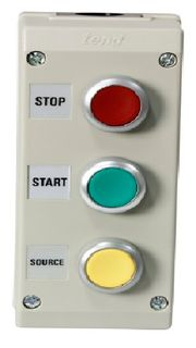 Pushbutton Enclosure  Label On Off