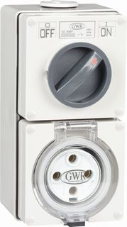 Switched Socket Outlet 4 Round Pin 10A 440V IP66
