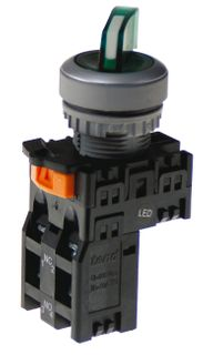 Selector Switch 3 position Red 2 N/O
