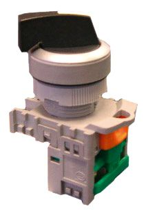 Selector Switch 3 position Long Green 2 N/O