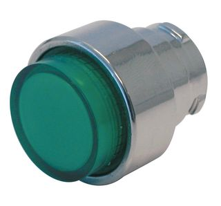 Pushbutton Illuminated Extruded Green