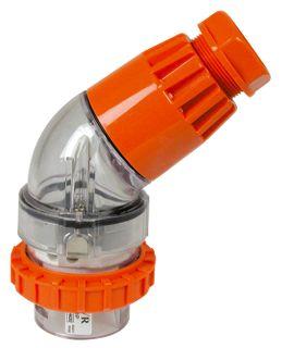 Angled Plug 5 Round Pin 20A 440V IP66