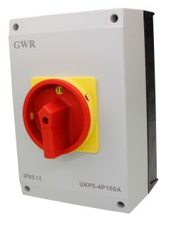 Isolator Enclosed IP56 4 Pole 100A