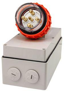 Appliance Inlet 5 Round Pins 32A 440V IP66
