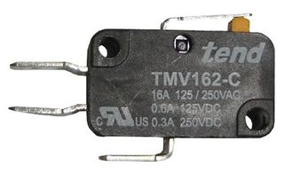 Compact Micro Switch 16A 14mm Lever Actuator