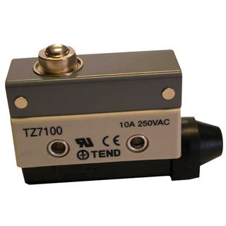 Limit Switch 10A IP65 Low Button Plunger