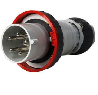 Straight Plug 63A 240VAC 2P+E