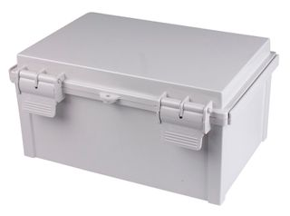 Enclosure ABS Grey  Body - Hinged lid 200x300x130