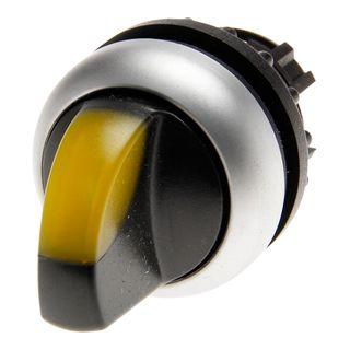 Selector Switch ILL 2 Position 60Deg Sp Ret Yellow