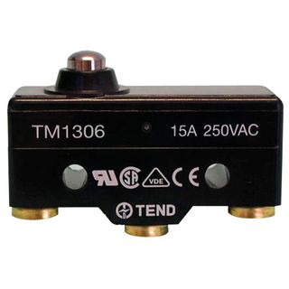 Micro Switch 15A Short Button Plunger