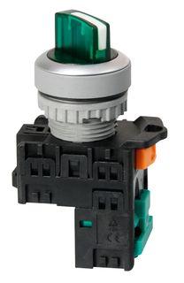 Selector Switch 2 po Ill 240V Short Green 1 N/O