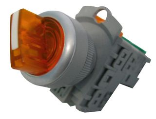 Selector Switch 2 Pos Ill 240V Short Amber 1 N/O