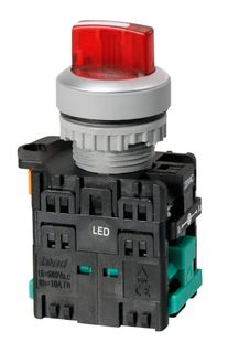 Selector Switch 2 Pos Ill 240V Short Red 1 N/C