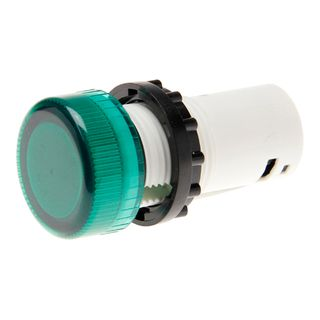 Pilot Light Direct Connect 22mm Green