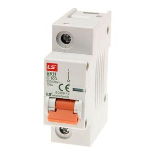 MCB LS Elec 1 Pole 125A C Curve 10kA 27 mm Wide